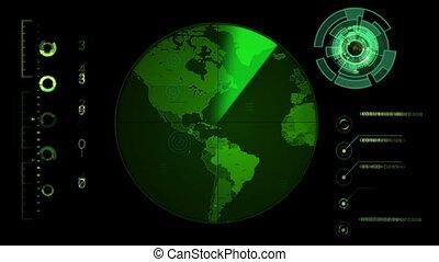 Radar Screen Display