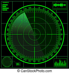 Radar screen.