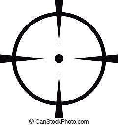 Radar screen icon, simple style.