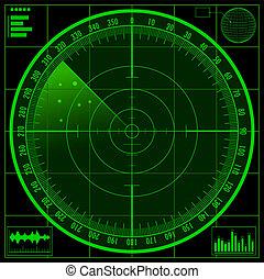 Radar screen. EPS10