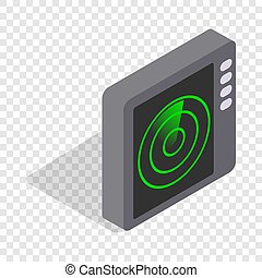 Radar screen isometric icon