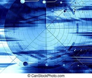 radar screen on a soft blue background