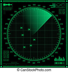 Radar screen  - Radar screen. Vector EPS10.