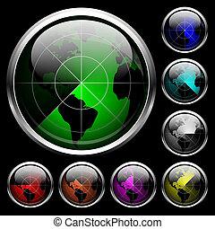 Radar set. EPS 10