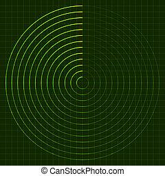radar, tela, vetorial, eps10