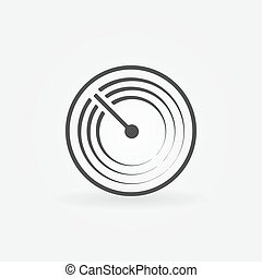 Radar vector simple icon