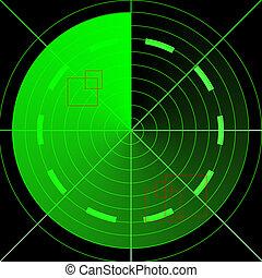 radar, verde