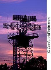 radaraufsatz, eben, silhouette