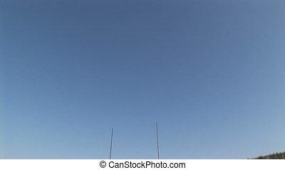 Radars on yacht