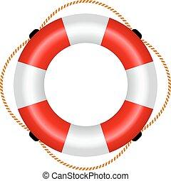 radeau sauvetage, icône