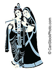 radha krishna - Lord Krishna with Goddess Radha