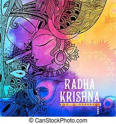 radha, lord krishna, janmashtami