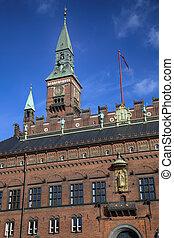 Radhus, Copenhagen city hall in Copenhagen Denmark