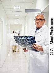 radiólogo, mri, tenencia, radiografía