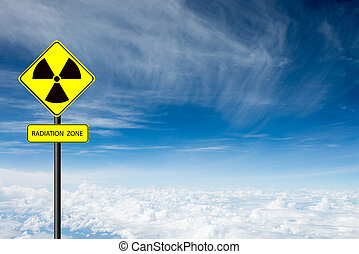 radiação, símbolo advertindo