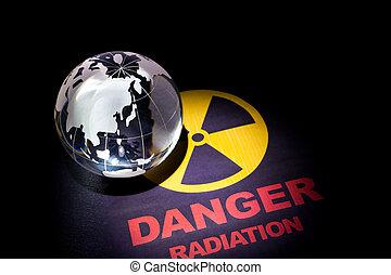 radiação, sinal perigo