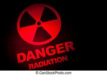radiación, muestra del peligro