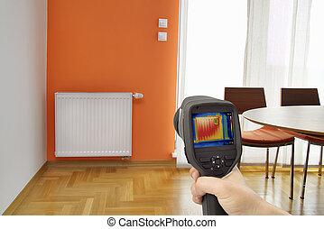 radiador, imagen térmica