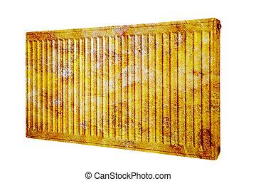 radiador, oxidado