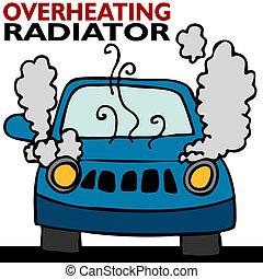 radiador, sobreaquecer