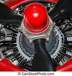 Radial aero engine