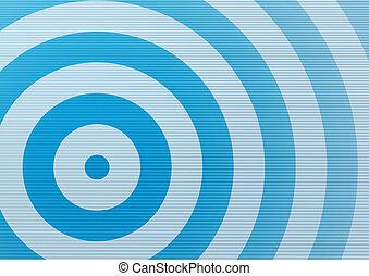 Radial background - Cyan target backdrop