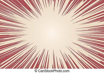Radial background with comic book speed lines. Vector illustrati