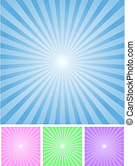 Vector Radial Background in four color sets