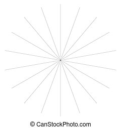 Radial burst lines circular element. Starburst, sunburst graphics. Concentric rays, beams. Sparkle, gleam, twinkle trail lines. Flare, explosion, fireworks radiance effect. Flash, glare design