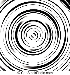 Radial concentric circles with irregular, dynamic lines. ...
