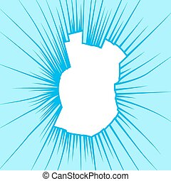 Radial cracks on broken glass. Vector illustration.