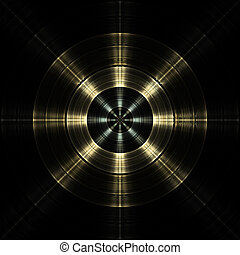 Radial Engine Abstract Fractal