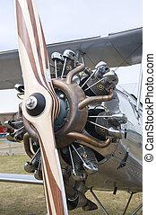 Radial engine with propeller - CERNY LA FERTE ALAIS, FRANCE...