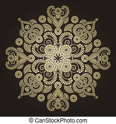 radial, geomã©´ricas, ornamento