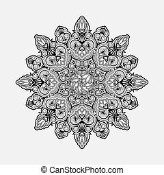 Radial geometric ornament