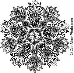 Radial geometric ornament