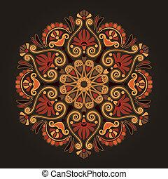 Radial geometric pattern