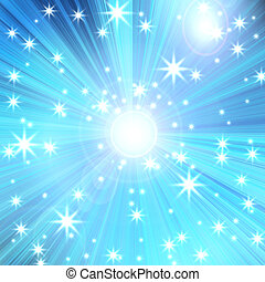 radial glow with rays and stars