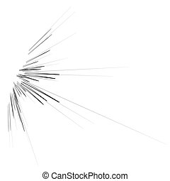 Radial lines in perspective. Comic FX dynamic lines. ...