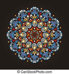radial, modèle géométrique