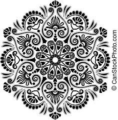 radial, modèle, géométrique
