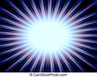 Radial orange sun rays abstract background
