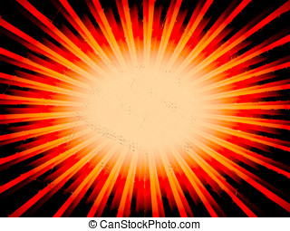 Radial orange sun rays abstract lowres background illustration