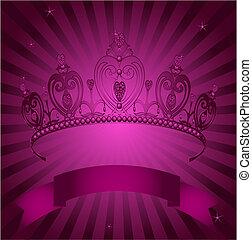 radial, princesse, grange, ba, couronne