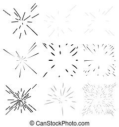 Radial, radiating lines abstract burst, explosion, fireworks...