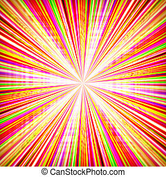 Radial zoom burst of energy, abstract background ...