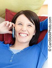 radian, telefon woman, beszéd