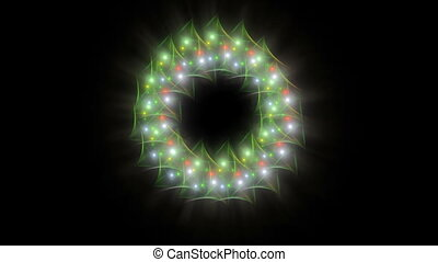 Radiant Christmas wreath of baubles - Radiant Christmas...
