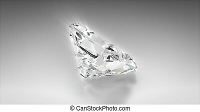 Radiant Cut Diamond - Radiant cut diamond on gray background...
