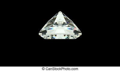Radiant Cut Diamond - Radiant cut diamond with alpha channel...